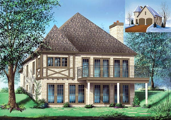 Tudor House Plan 49769 Elevation