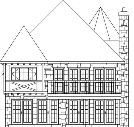 Tudor House Plan 49769 Rear Elevation
