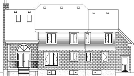 European Rear Elevation of Plan 49772