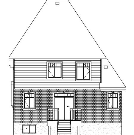 Victorian House Plan 49773 Rear Elevation