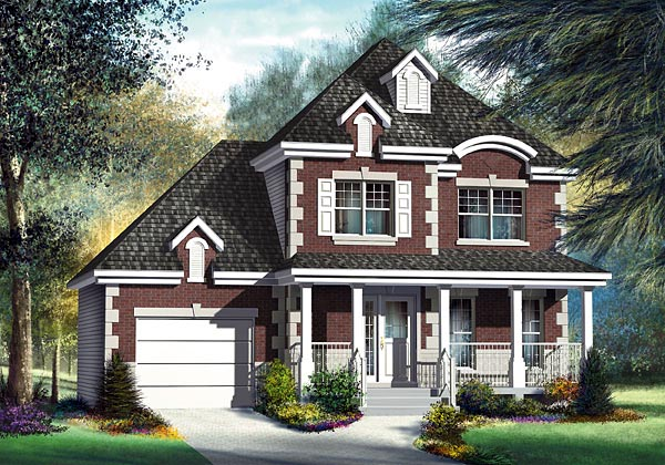 European House Plan 49774 Elevation