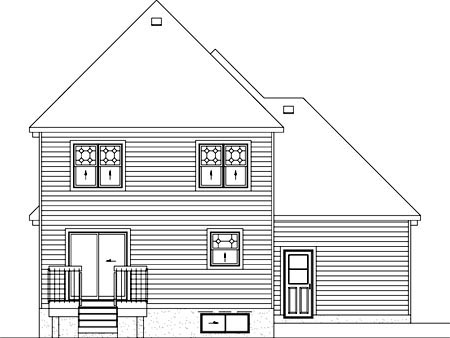 European House Plan 49774 Rear Elevation