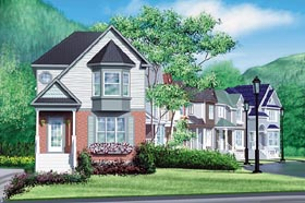 Craftsman House Plan 49778 with 2 Beds, 2 Baths Elevation