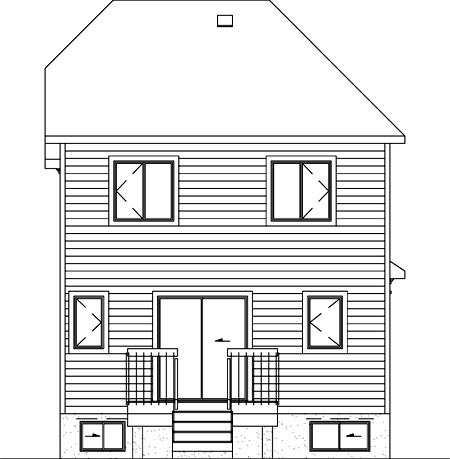 Traditional House Plan 49780 Rear Elevation