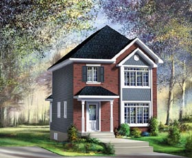 House Plan 49785 | Craftsman Style Plan with 1195 Sq Ft, 3 Bedrooms, 2 Bathrooms Elevation
