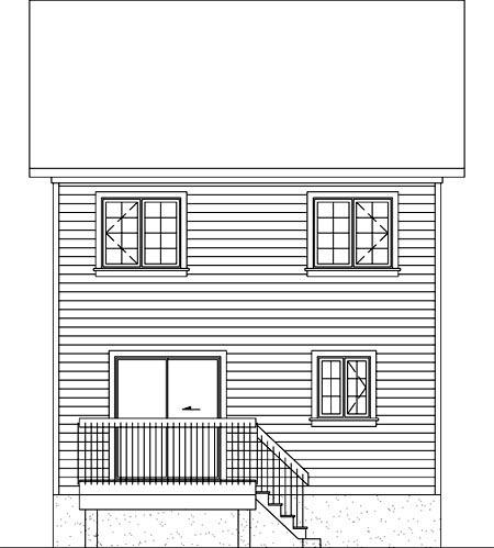 Craftsman House Plan 49786 Rear Elevation