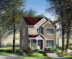 Craftsman House Plan 49788 with 3 Beds, 2 Baths Elevation