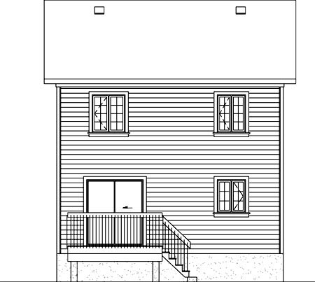 Traditional House Plan 49790 Rear Elevation
