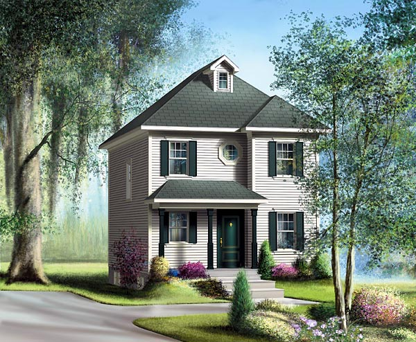 Traditional House Plan 49791 Elevation