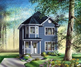 Victorian House Plan 49792 with 3 Beds, 2 Baths Elevation