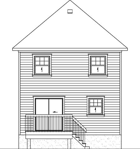 Victorian House Plan 49792 Rear Elevation
