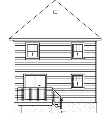 Victorian House Plan 49793 Rear Elevation