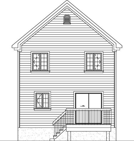 Traditional House Plan 49795 Rear Elevation