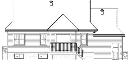 House Plan 49798 Rear Elevation