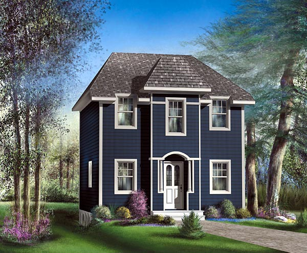 House Plan 49799 Elevation