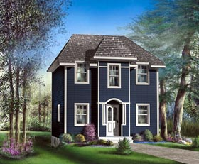 House Plan 49800 with 3 Beds, 2 Baths Elevation
