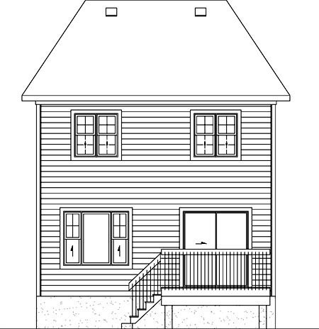 House Plan 49800 Rear Elevation