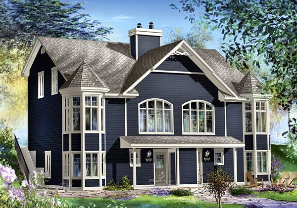 Multi-Family Plan 49805 | Style Plan with 3798 Sq Ft, 6 Bedrooms, 6 Bathrooms Elevation