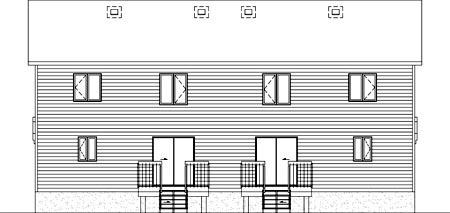 Multi-Family Plan 49807 Rear Elevation