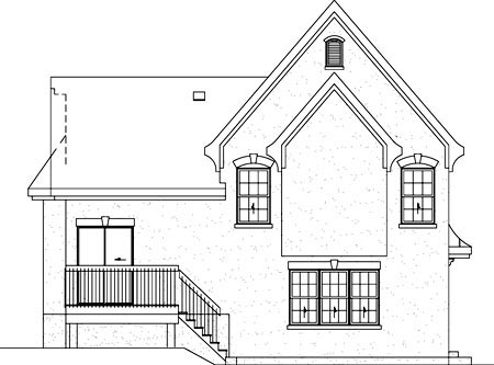 House Plan 49810 Rear Elevation