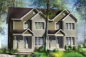 Multi-Family Plan 49812 with 5 Beds, 4 Baths Elevation