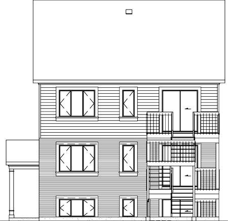 Multi-Family Plan 49816 Rear Elevation