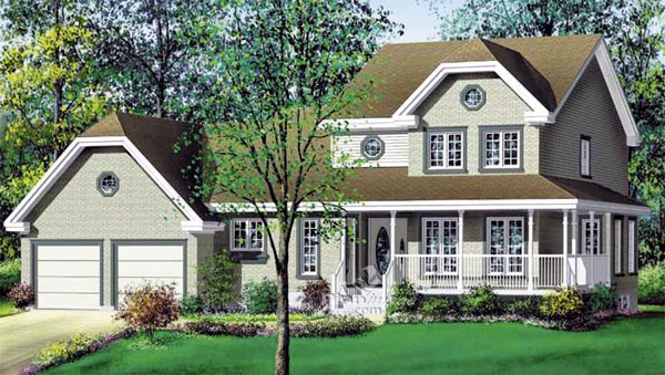 House Plan 49819 Elevation