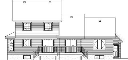 House Plan 49819 Rear Elevation