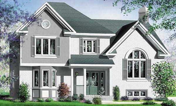 House Plan 49820 Elevation