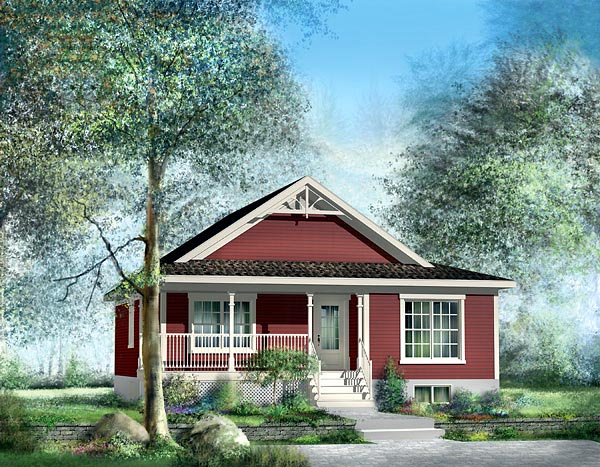 Country Ranch House Plan 49821 Elevation