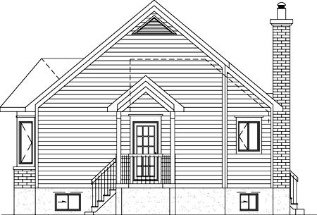 Country House Plan 49825 Rear Elevation
