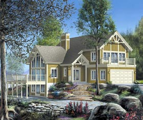 House Plan 49827 Elevation