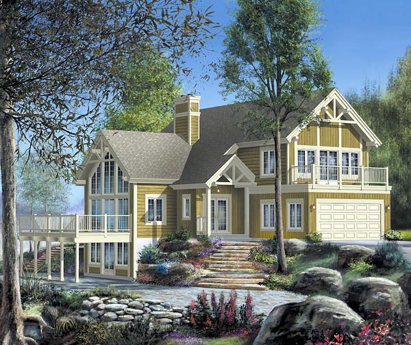 House Plan 49827 Elevation