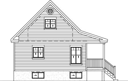 Country House Plan 49828 Rear Elevation