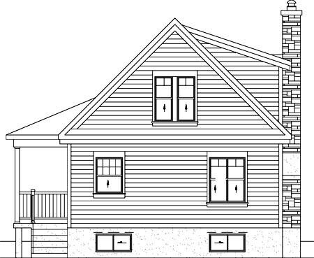 Country House Plan 49831 Rear Elevation