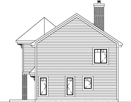 Victorian House Plan 49835 Rear Elevation