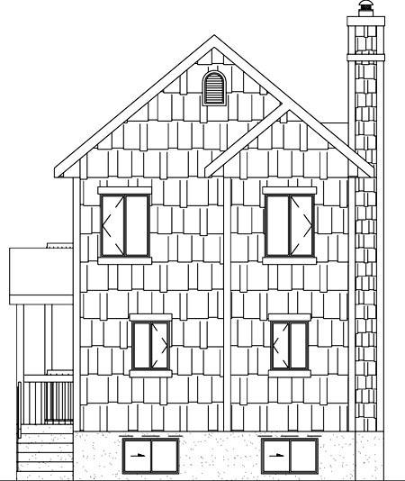 Craftsman House Plan 49836 Rear Elevation