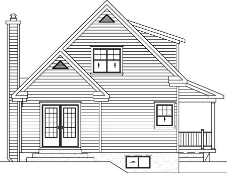 Southern House Plan 49837 Rear Elevation
