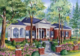 Colonial House Plan 49839 Elevation