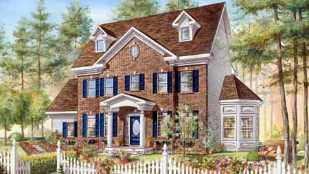 Colonial House Plan 49840 Elevation