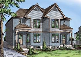 Multi-Family Plan 49843 Elevation