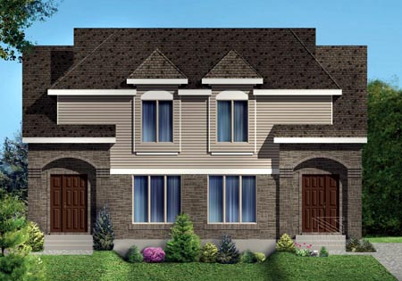 Multi-Family Plan 49846 with 6 Beds, 4 Baths Elevation