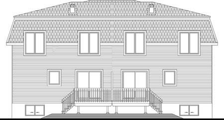 Multi-Family Plan 49848 Rear Elevation