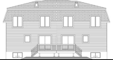 Multi-Family Plan 49849 Rear Elevation