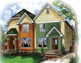 Multi-Family Plan 49850 with 4 Beds, 4 Baths Elevation