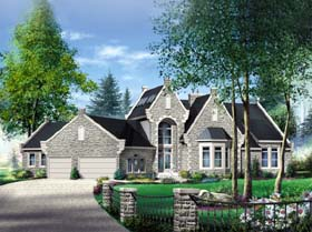 House Plan 49852 | Traditional Style Plan with 3701 Sq Ft, 4 Bedrooms, 4 Bathrooms, 2 Car Garage Elevation