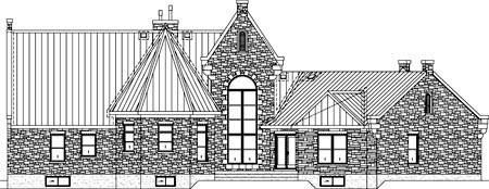 Traditional House Plan 49852 Rear Elevation