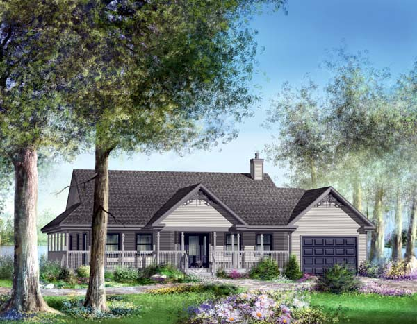 Traditional House Plan 49854 Elevation