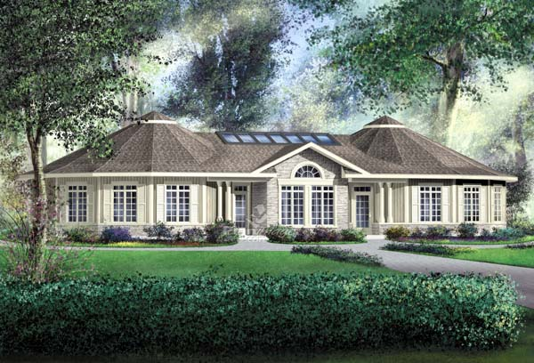 Contemporary House Plan 49855 Elevation