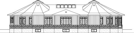Contemporary House Plan 49855 Rear Elevation